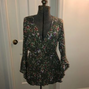 Charlotte Russe green floral dress